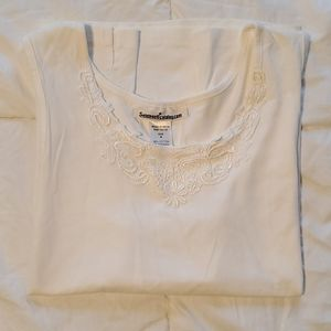 Embroidered Breezy Swing Tunic Tank